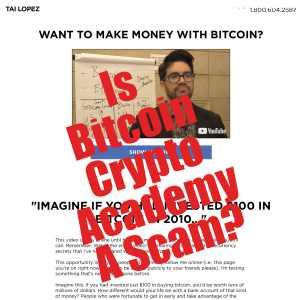 Bitcoin Crypto Academy Scam